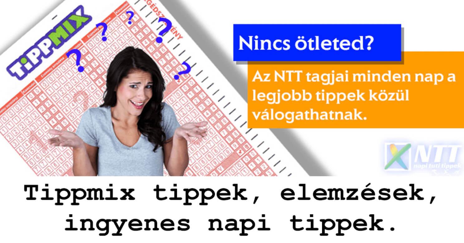 NTT: A legjobb sportfogadási ötletek naponta: Tippmix tippek, mérkőzés elemzések, statisztikai adatok. Napi ingyenes tippek. Csatlakozz Magyarország legsikeresebb sportfogadó csapatához!