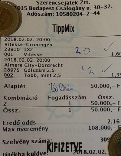 Tippmix tippek - 2018 02