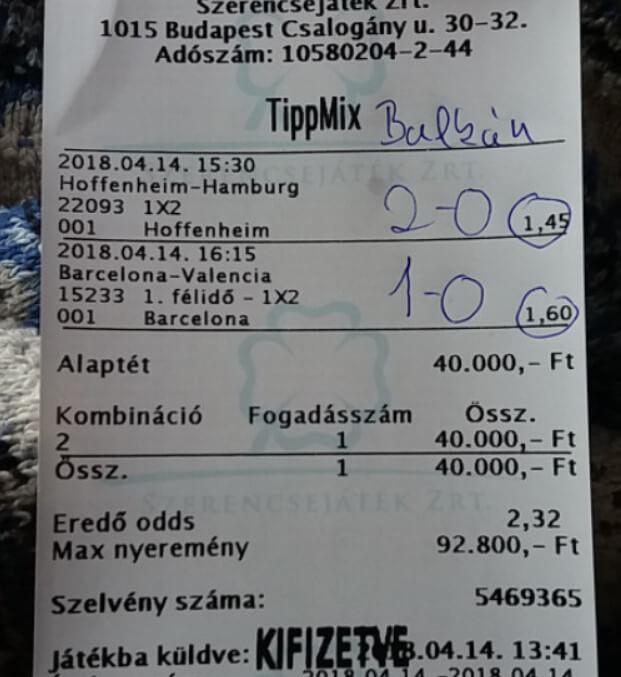 Sportfogadás Tippmix Nyerő tippek: Tippmix tippek, mérkőzés elemzések, statisztikai adatok. Napi ingyenes tippek. Csatlakozz Magyarország legsikeresebb sportfogadó csapatához!