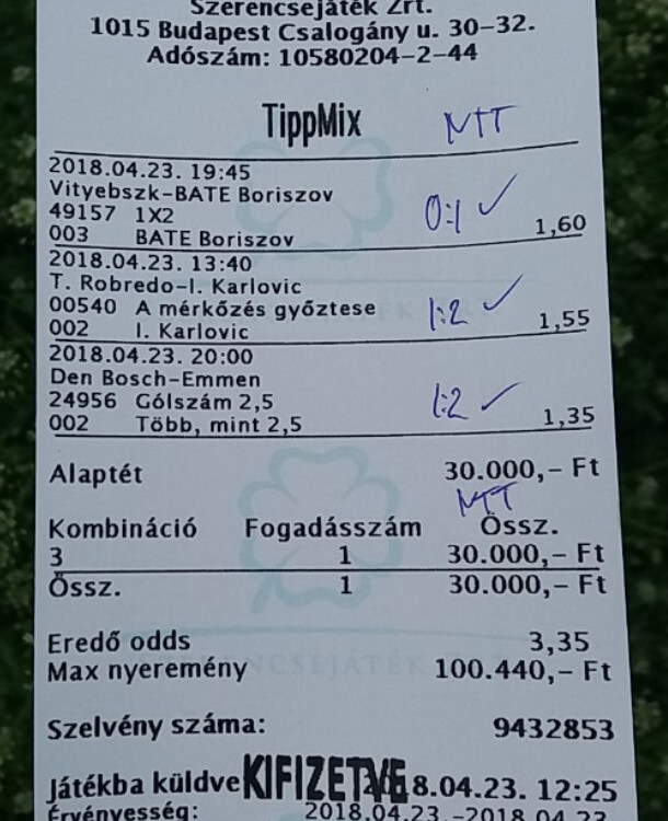 Tippmix tippek, Sportfogadási tanácsok: Tippmix tippek, mérkőzés elemzések, statisztikai adatok. Napi ingyenes tippek. Csatlakozz Magyarország legsikeresebb sportfogadó csapatához!