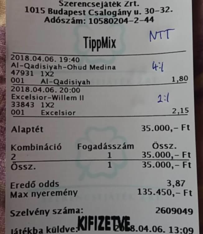 Foci tippek az év minden napján: Tippmix tippek, mérkőzés elemzések, statisztikai adatok. Napi ingyenes tippek. Csatlakozz Magyarország legsikeresebb sportfogadó csapatához!