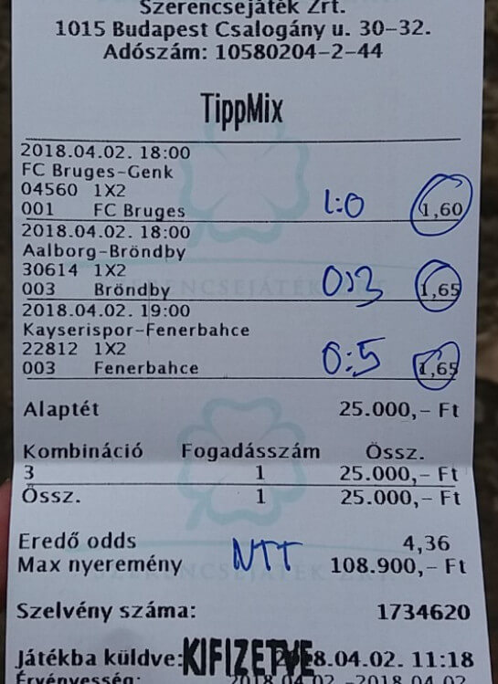 A legjobb Tippmix fogadási ajánlatok: Tippmix tippek, mérkőzés elemzések, statisztikai adatok. Napi ingyenes tippek. Csatlakozz Magyarország legsikeresebb sportfogadó csapatához!