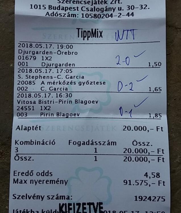 Nyerő Tippmix tippek, hatékony sportfogadás: Tippmix tippek, mérkőzés elemzések, statisztikai adatok. Napi ingyenes tippek. Csatlakozz Magyarország legsikeresebb sportfogadó csapatához!