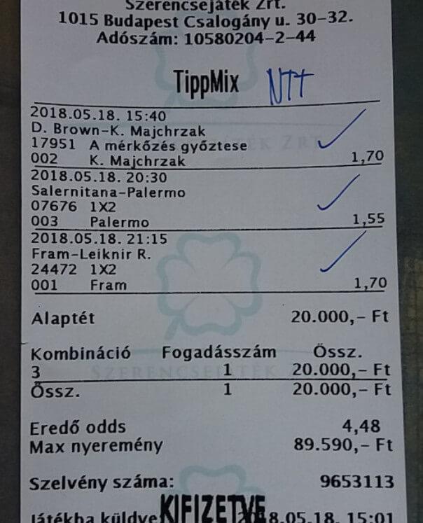 A legjobb Tippmix tippek sikeres sportfogadóknak: Tippmix tippek, mérkőzés elemzések, statisztikai adatok. Napi ingyenes tippek. Csatlakozz Magyarország legsikeresebb sportfogadó csapatához!