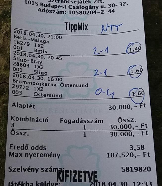 Sportfogadás, Tippmix, Nyerő tippek naponta: Tippmix tippek, mérkőzés elemzések, statisztikai adatok. Napi ingyenes tippek. Csatlakozz Magyarország legsikeresebb sportfogadó csapatához!