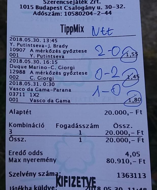 Naponta a legjobb fogadási ajánlatok Tippmixre: Tippmix tippek, mérkőzés elemzések, statisztikai adatok. Napi ingyenes tippek. Csatlakozz Magyarország legsikeresebb sportfogadó csapatához!