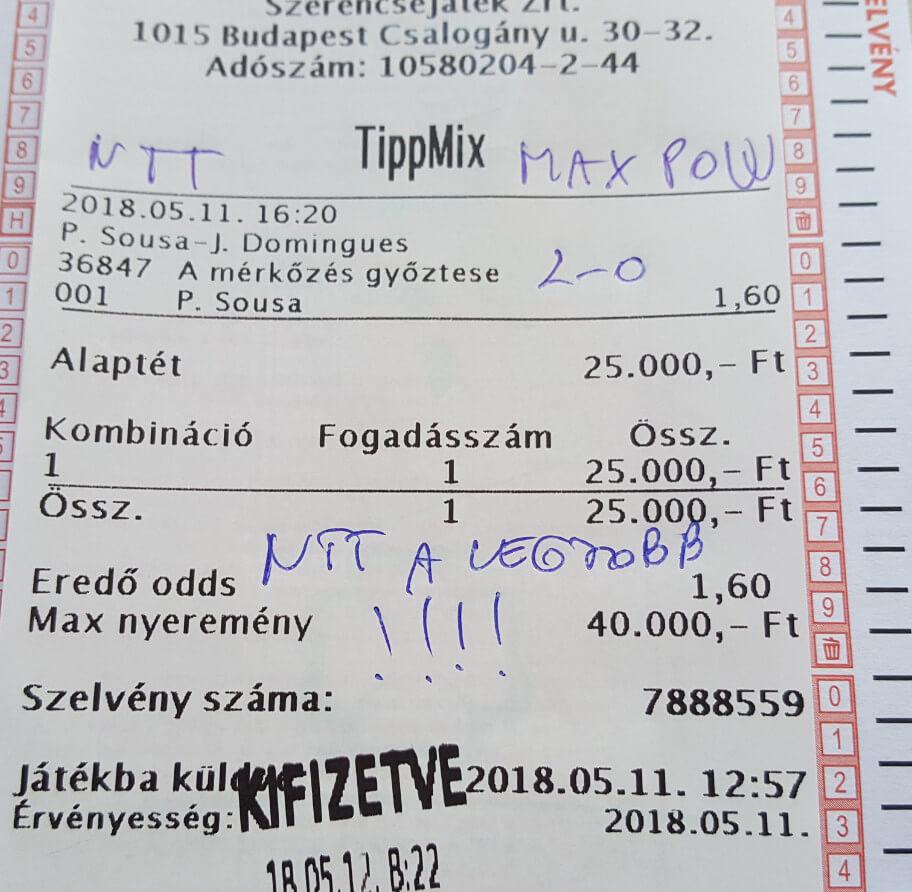 Ütős Tippmix tippek sportfogadóknak: Tippmix tippek, mérkőzés elemzések, statisztikai adatok. Napi ingyenes tippek. Csatlakozz Magyarország legsikeresebb sportfogadó csapatához!