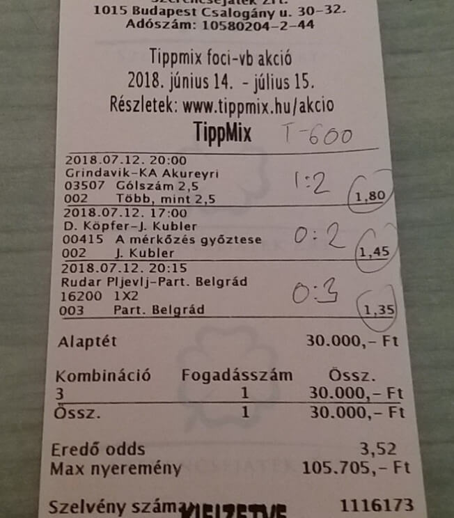 Ahol a legjobb Tippmix tippeket kapod: Tippmix tippek, mérkőzés elemzések, statisztikai adatok. Napi ingyenes tippek. Csatlakozz Magyarország legsikeresebb sportfogadó csapatához!