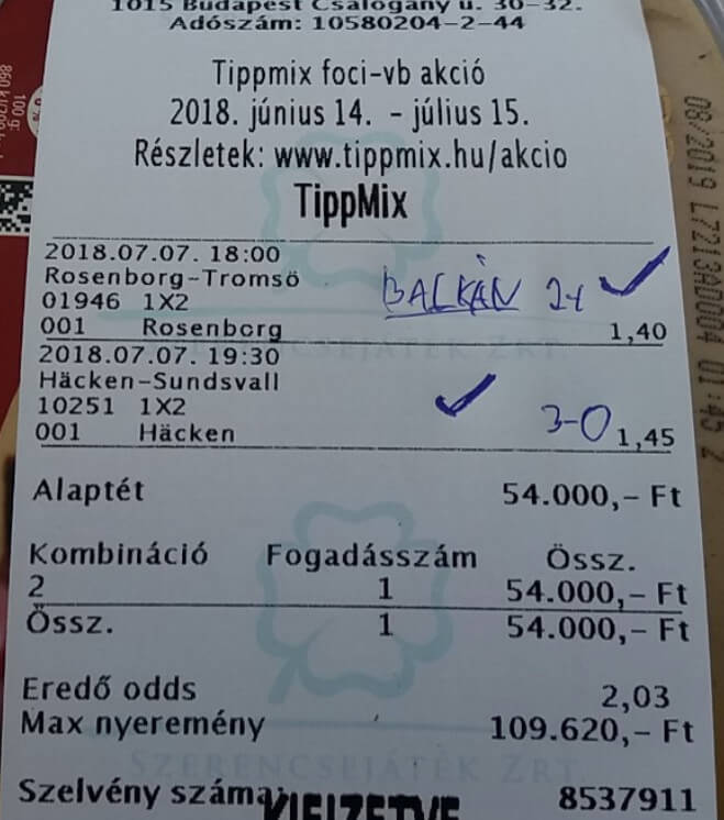 A legjobb Tippmix tippek naponta: Tippmix tippek, mérkőzés elemzések, statisztikai adatok. Napi ingyenes tippek. Csatlakozz Magyarország legsikeresebb sportfogadó csapatához!