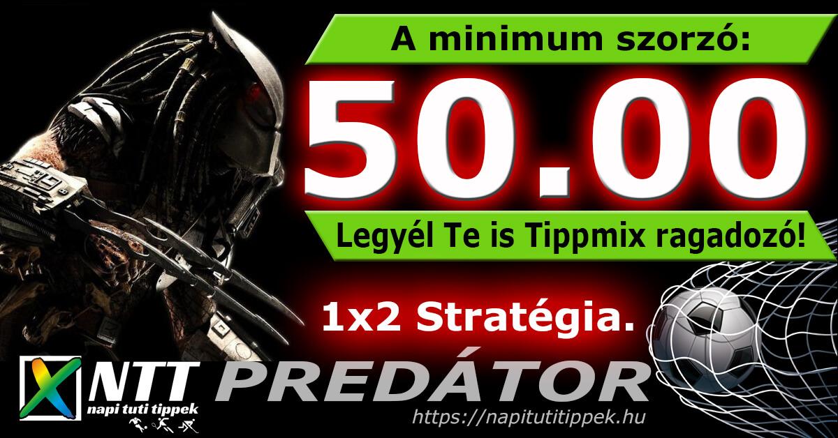 Predátor Tippmix tippek: Tippmix tippek, mérkőzés elemzések, statisztikai adatok. Napi ingyenes tippek. Csatlakozz Magyarország legsikeresebb sportfogadó csapatához!