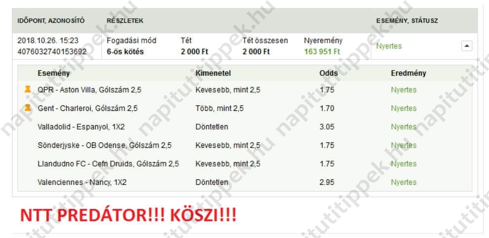 A legjobb Tippmix tippek és szisztémák: Tippmix tippek, mérkőzés elemzések, statisztikai adatok. Napi ingyenes tippek. Csatlakozz Magyarország legsikeresebb sportfogadó csapatához!