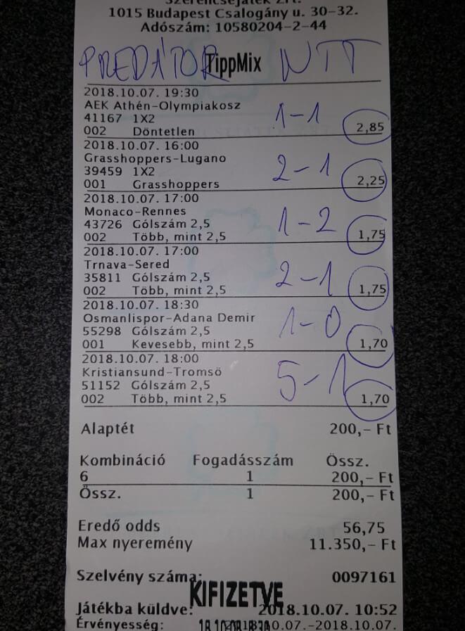 Ütős Tippmix szisztémák: Tippmix tippek, mérkőzés elemzések, statisztikai adatok. Napi ingyenes tippek. Csatlakozz Magyarország legsikeresebb sportfogadó csapatához!