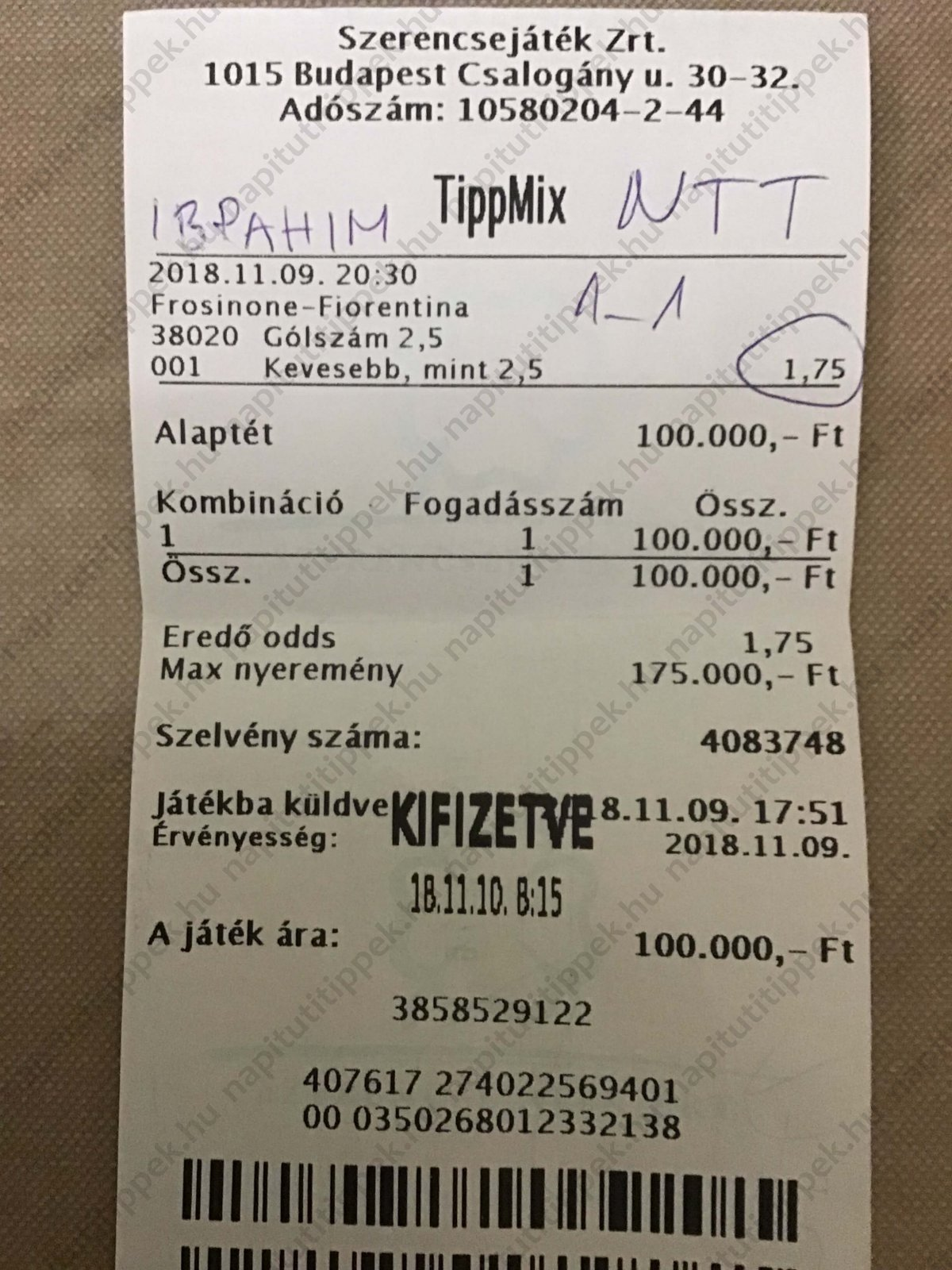 Tippmix ötletek sportfogadási tanácsok: Tippmix tippek, mérkőzés elemzések, statisztikai adatok. Napi ingyenes tippek. Csatlakozz Magyarország legsikeresebb sportfogadó csapatához!
