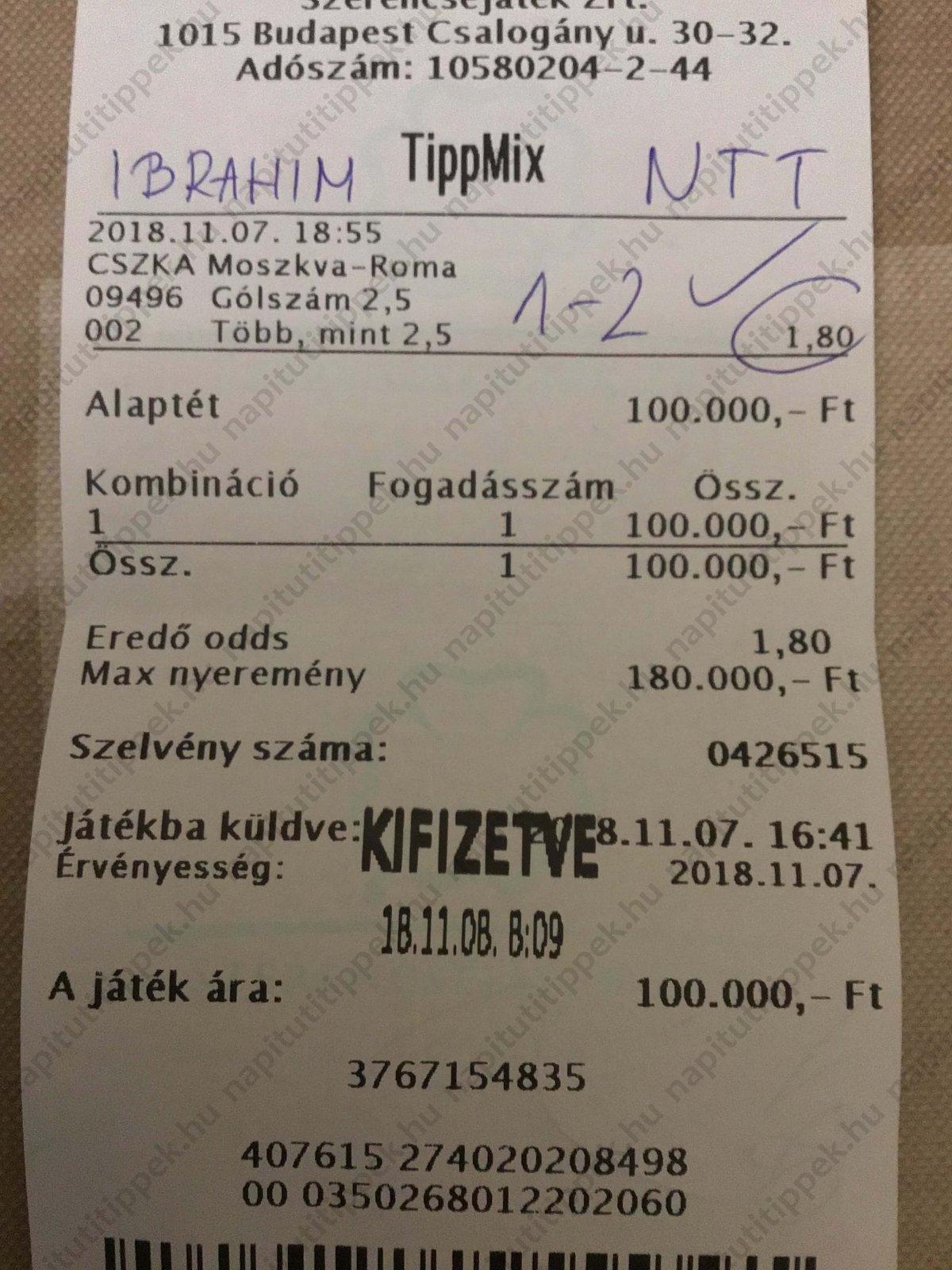 Tippmix tuti tippek: Tippmix tippek, mérkőzés elemzések, statisztikai adatok. Napi ingyenes tippek. Csatlakozz Magyarország legsikeresebb sportfogadó csapatához!