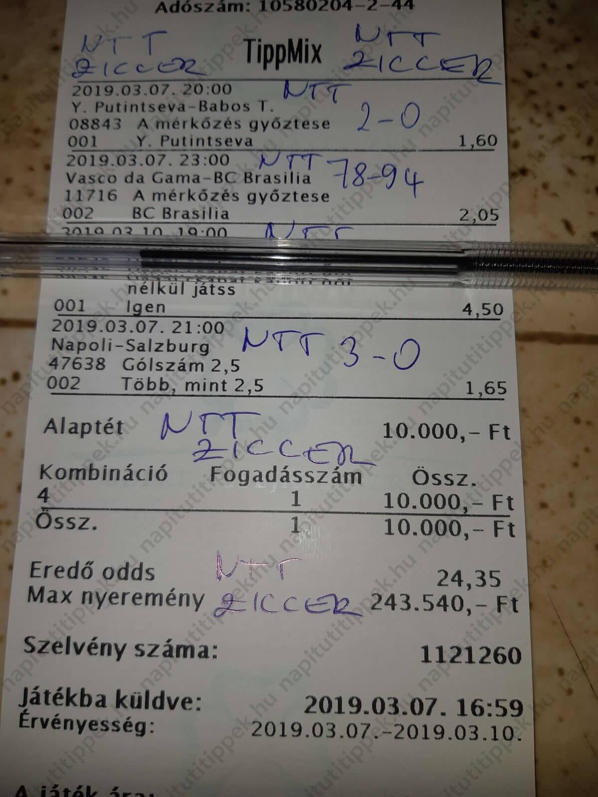 Ziccer komplett Tippmix szelvényötletek: Tippmix tippek, mérkőzés elemzések, statisztikai adatok. Napi ingyenes tippek. Csatlakozz Magyarország legsikeresebb sportfogadó csapatához!