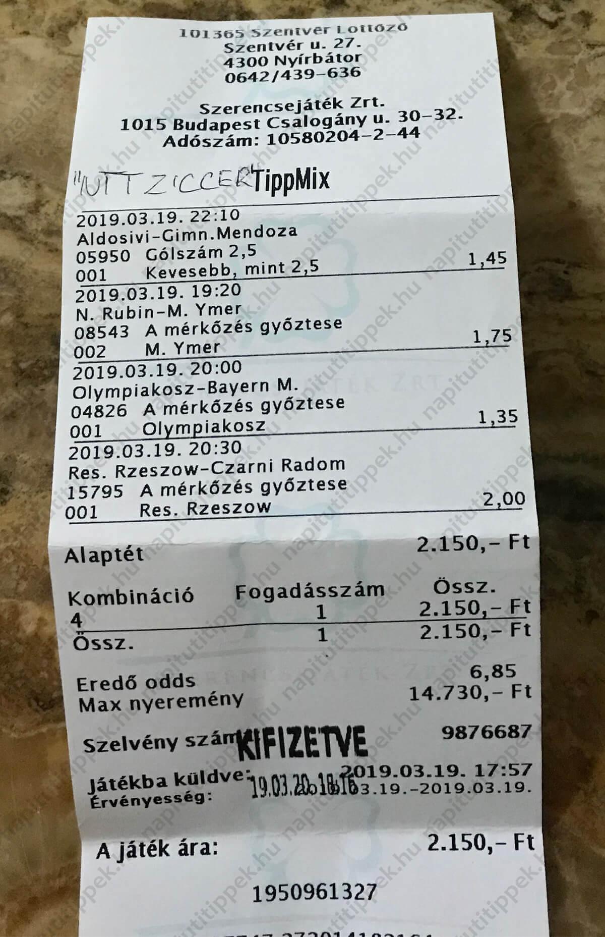 Komplett Tippmix szelvényötletek naponta sportfogadók számára: Tippmix tippek, mérkőzés elemzések, statisztikai adatok. Napi ingyenes tippek. Csatlakozz Magyarország legsikeresebb sportfogadó csapatához!