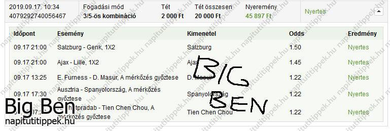 Big Ben - Tippmix tippek 12 - Tippmix tippek