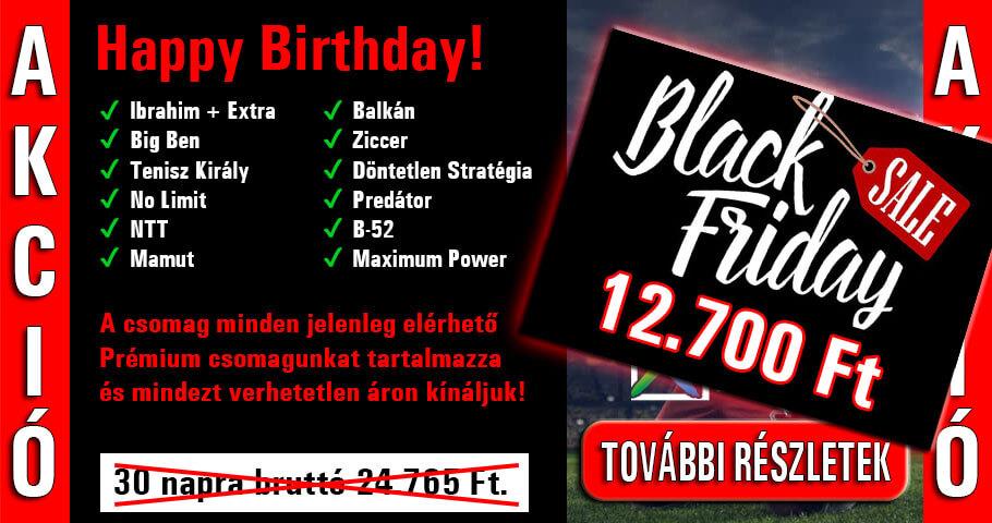 Black Friday akció, csak ma!