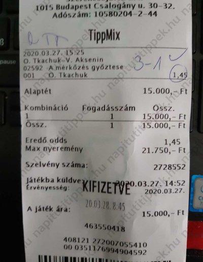 tippmix szelvény